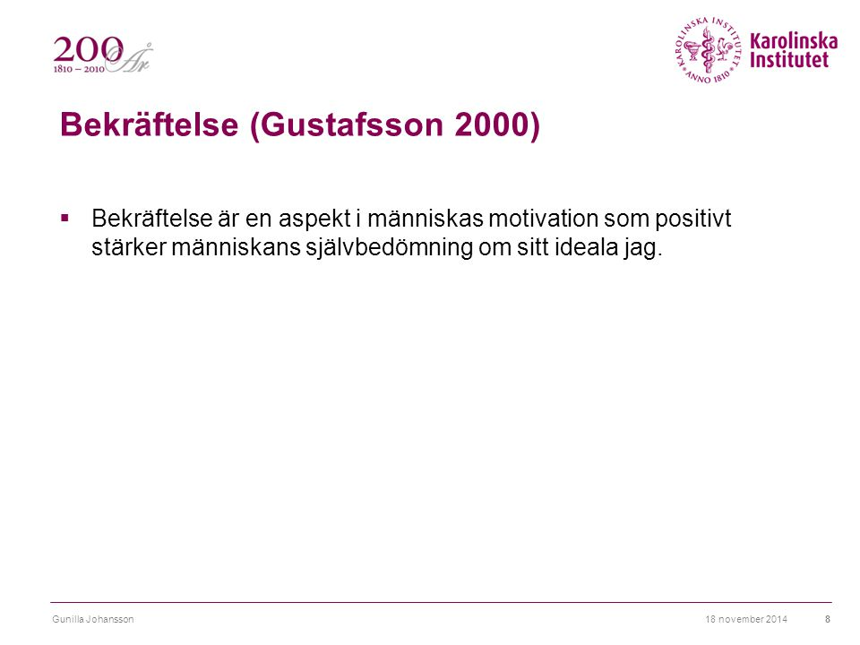 Bekräftelse (Gustafsson 2000)