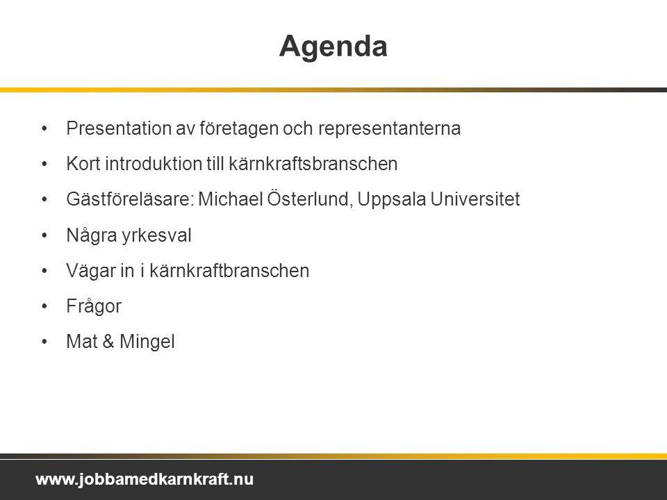 Agenda Presentation av företagen och representanterna