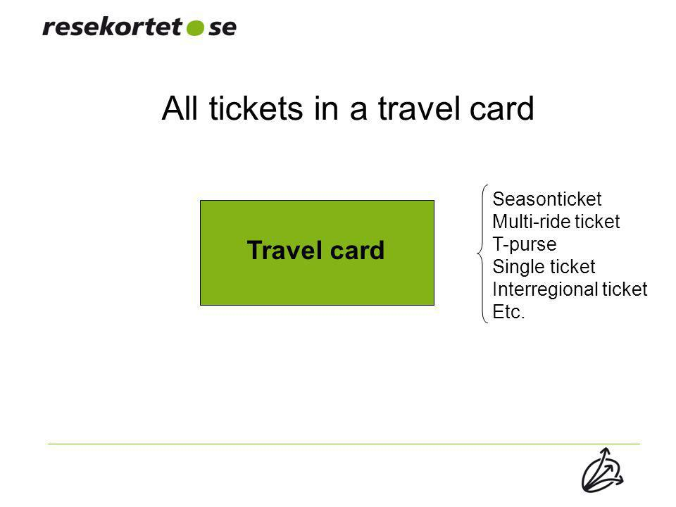 All tickets in a travel card