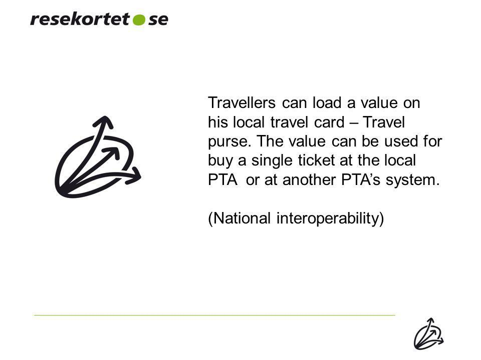 Travellers can load a value on his local travel card – Travel purse