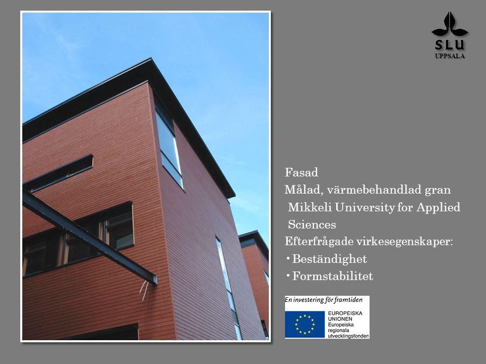 Målad, värmebehandlad gran Mikkeli University for Applied Sciences