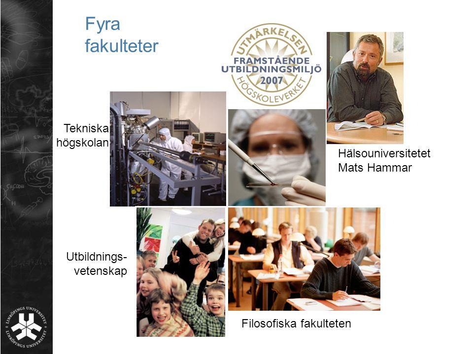 Fyra fakulteter Tekniska högskolan Hälsouniversitetet Mats Hammar