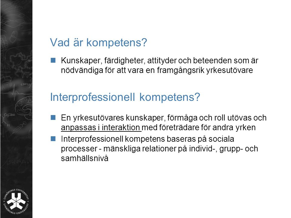 Interprofessionell kompetens