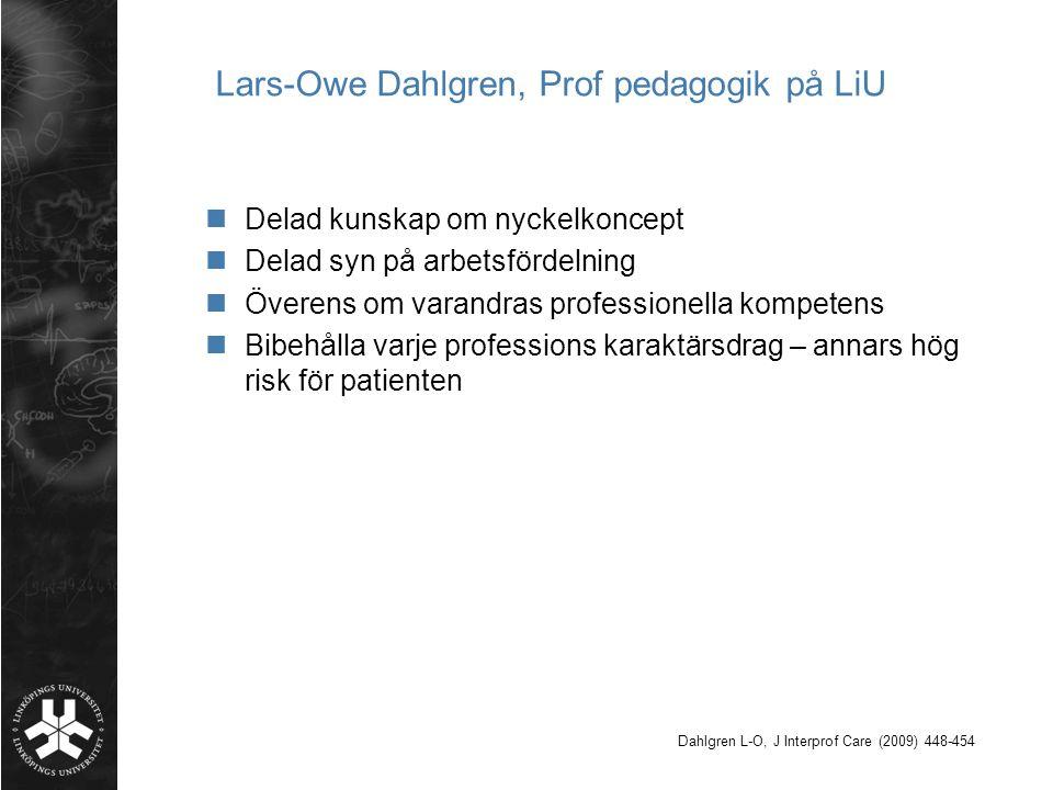 Lars-Owe Dahlgren, Prof pedagogik på LiU