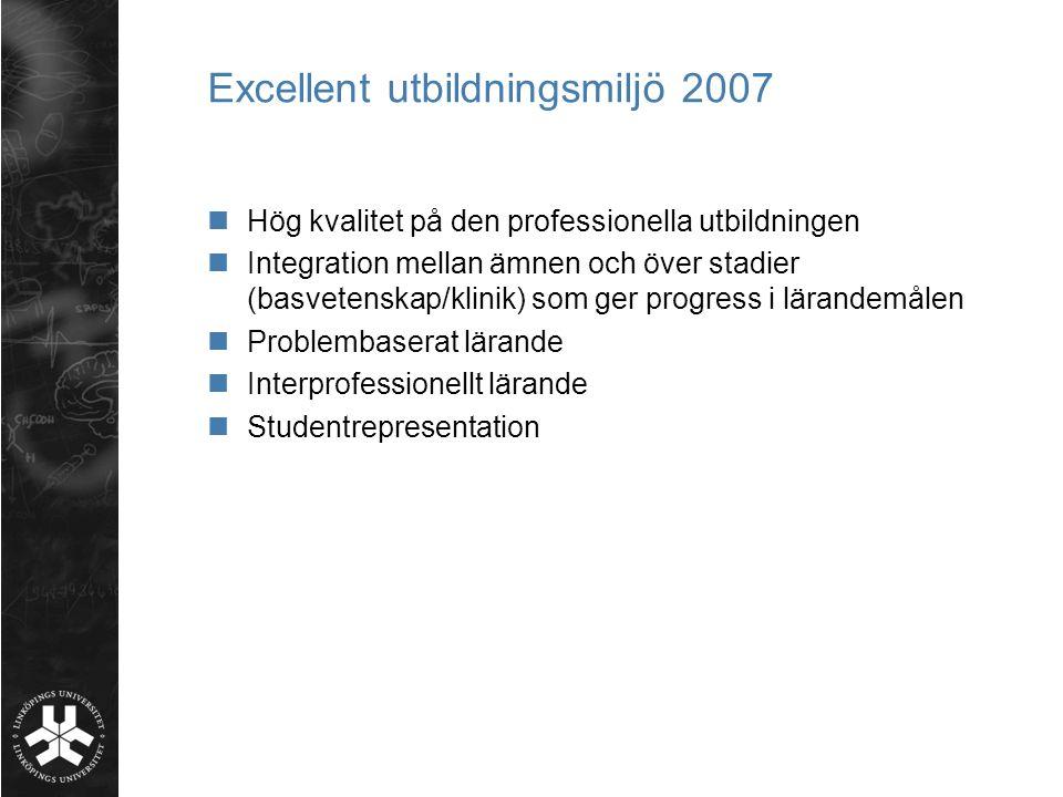 Excellent utbildningsmiljö 2007