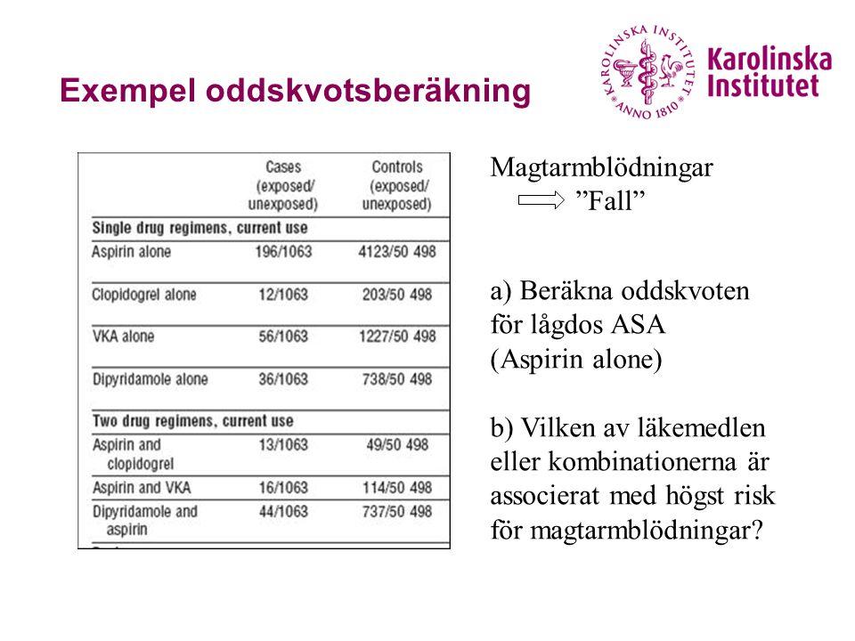 Exempel oddskvotsberäkning
