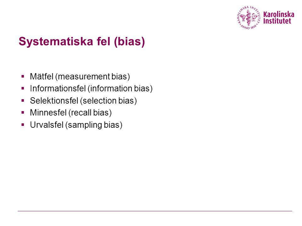 Systematiska fel (bias)