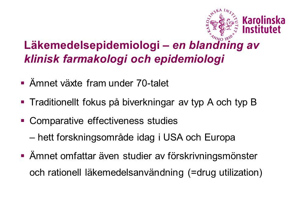 Läkemedelsepidemiologi – en blandning av klinisk farmakologi och epidemiologi