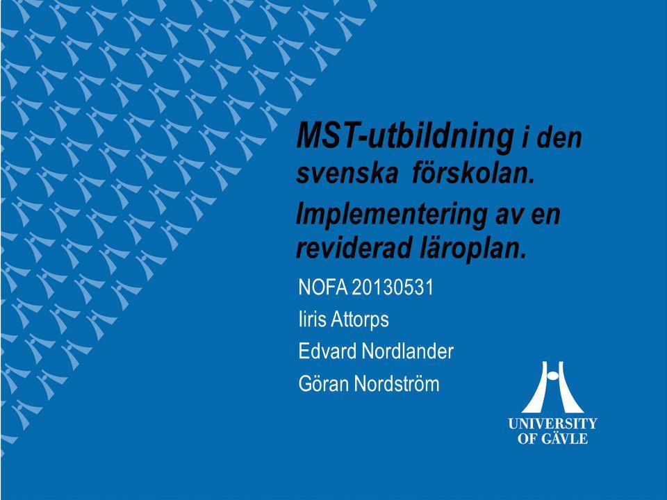 MST-utbildning i den svenska förskolan.