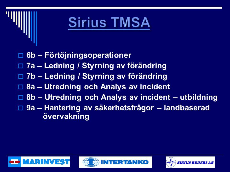 Sirius TMSA 6b – Förtöjningsoperationer