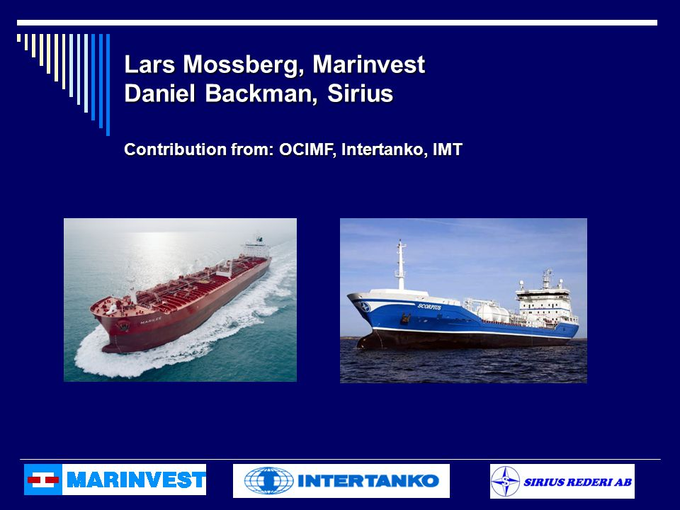 Lars Mossberg, Marinvest Daniel Backman, Sirius
