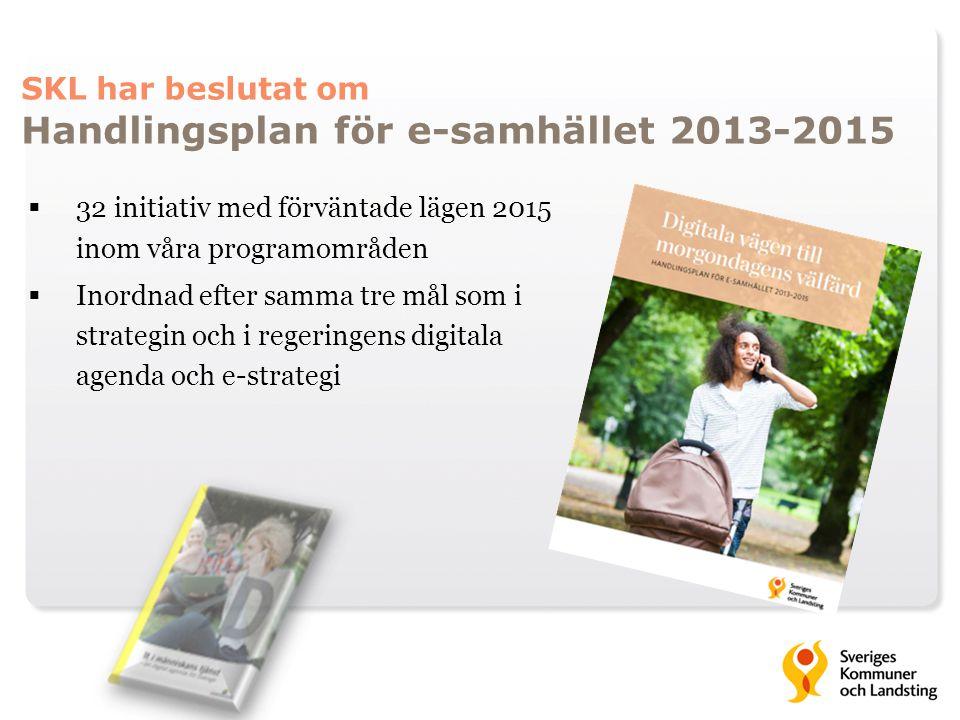 SKL har beslutat om Handlingsplan för e-samhället 2013-2015