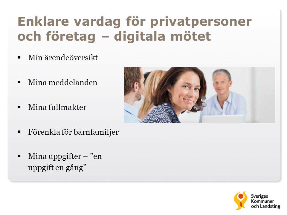 Enklare vardag för privatpersoner och företag – digitala mötet