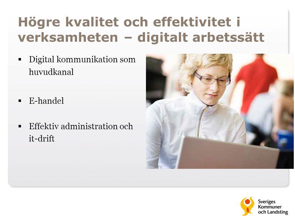 Högre kvalitet och effektivitet i verksamheten – digitalt arbetssätt