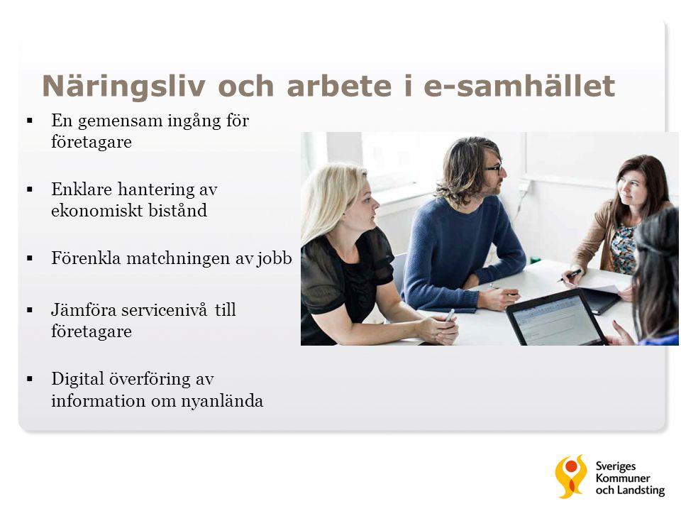 Näringsliv och arbete i e-samhället