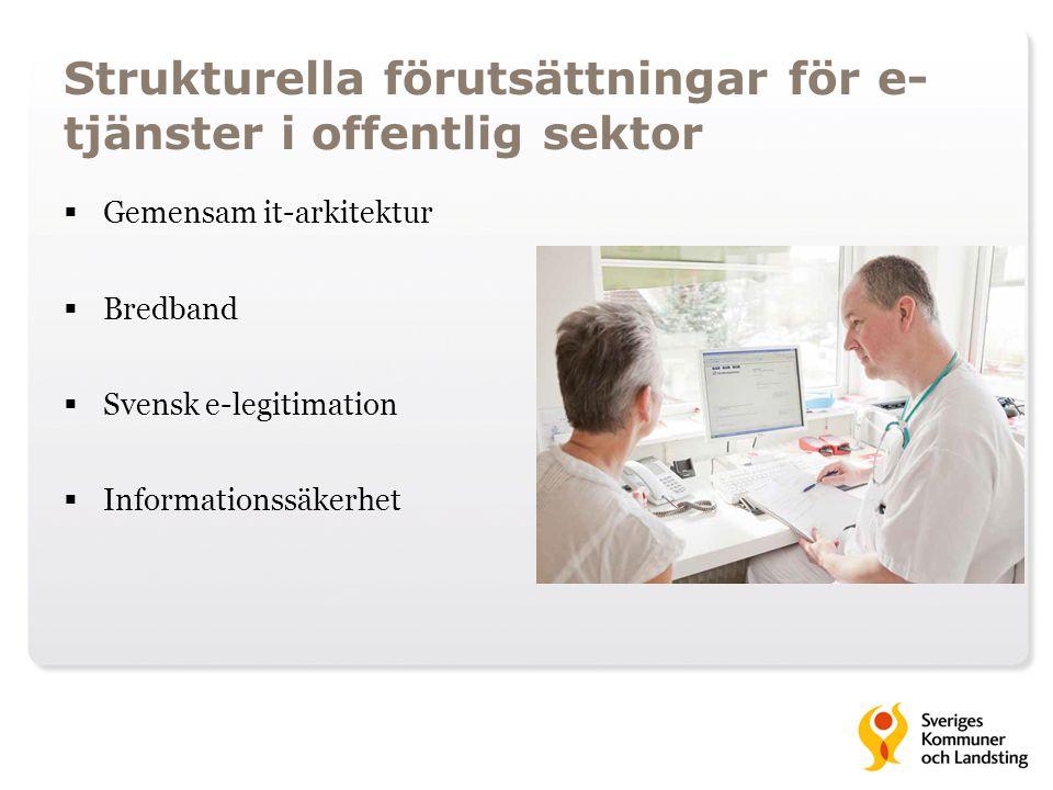 Strukturella förutsättningar för e-tjänster i offentlig sektor