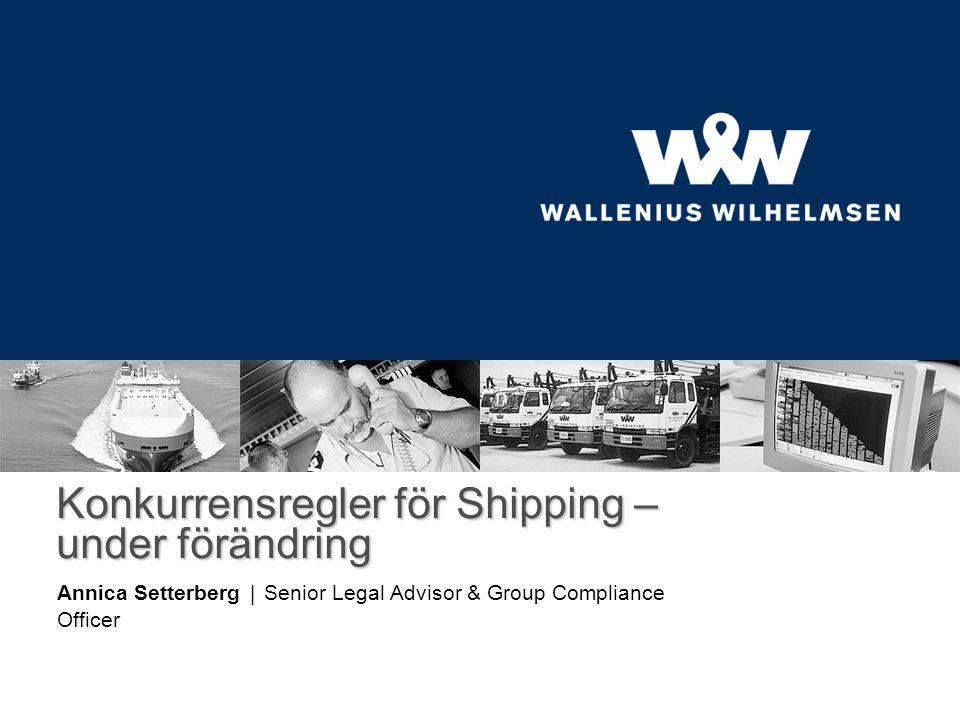 Konkurrensregler för Shipping – under förändring