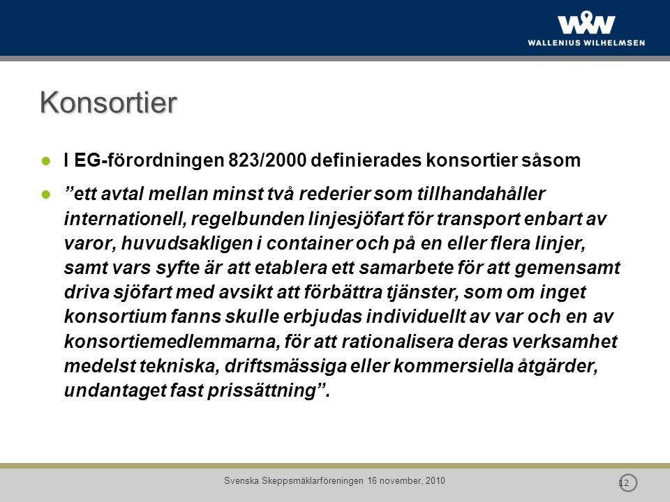 Svenska Skeppsmäklarföreningen 16 november, 2010