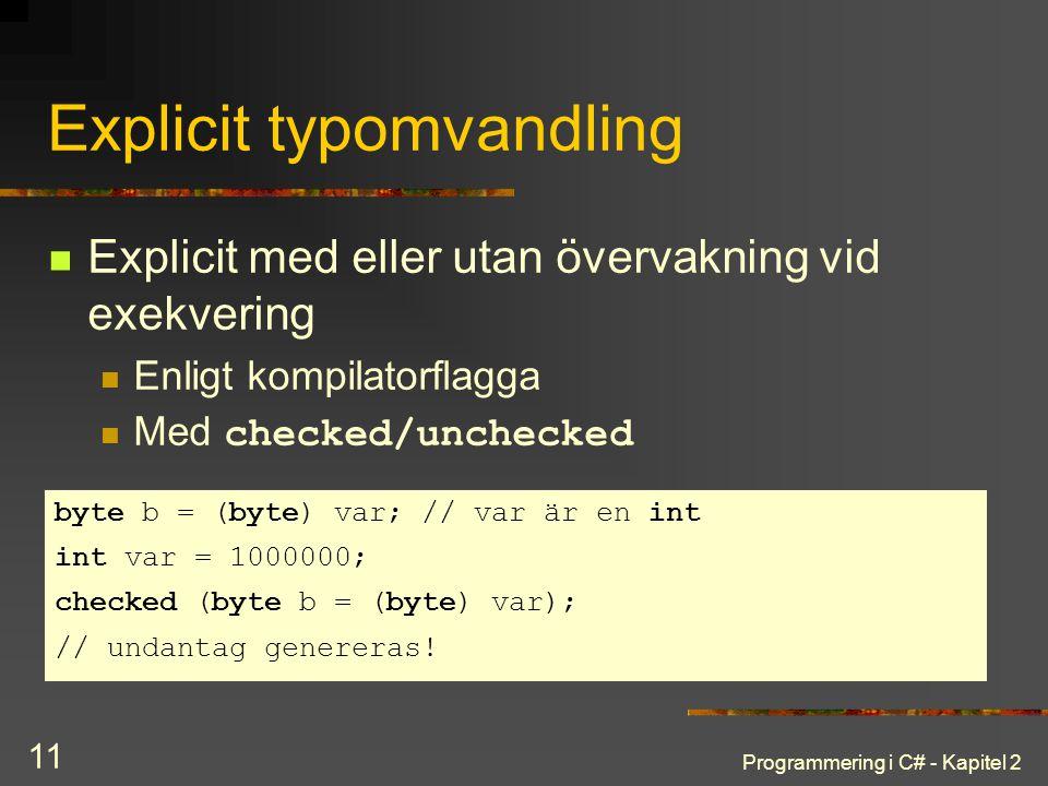 Explicit typomvandling