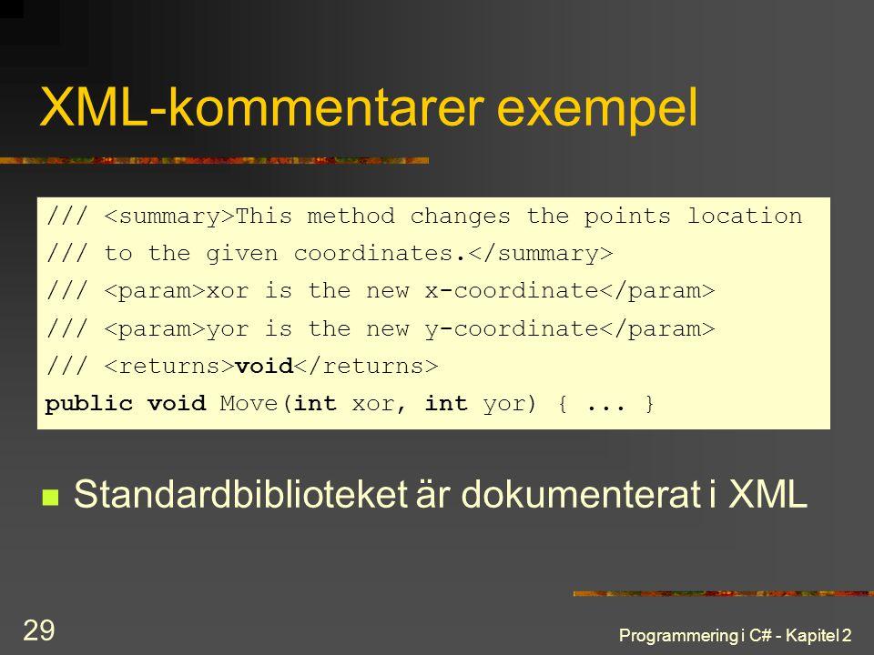 XML-kommentarer exempel