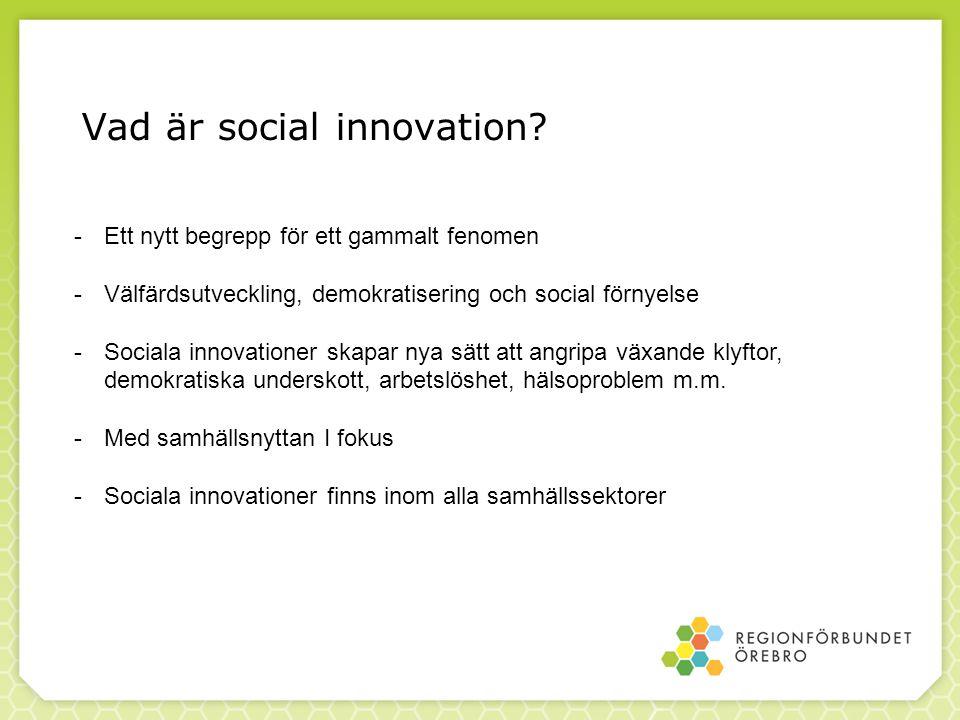 Vad är social innovation