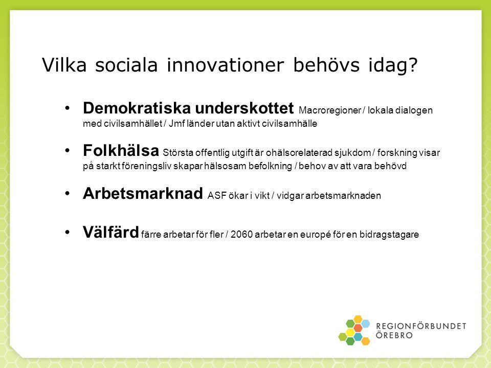 Vilka sociala innovationer behövs idag