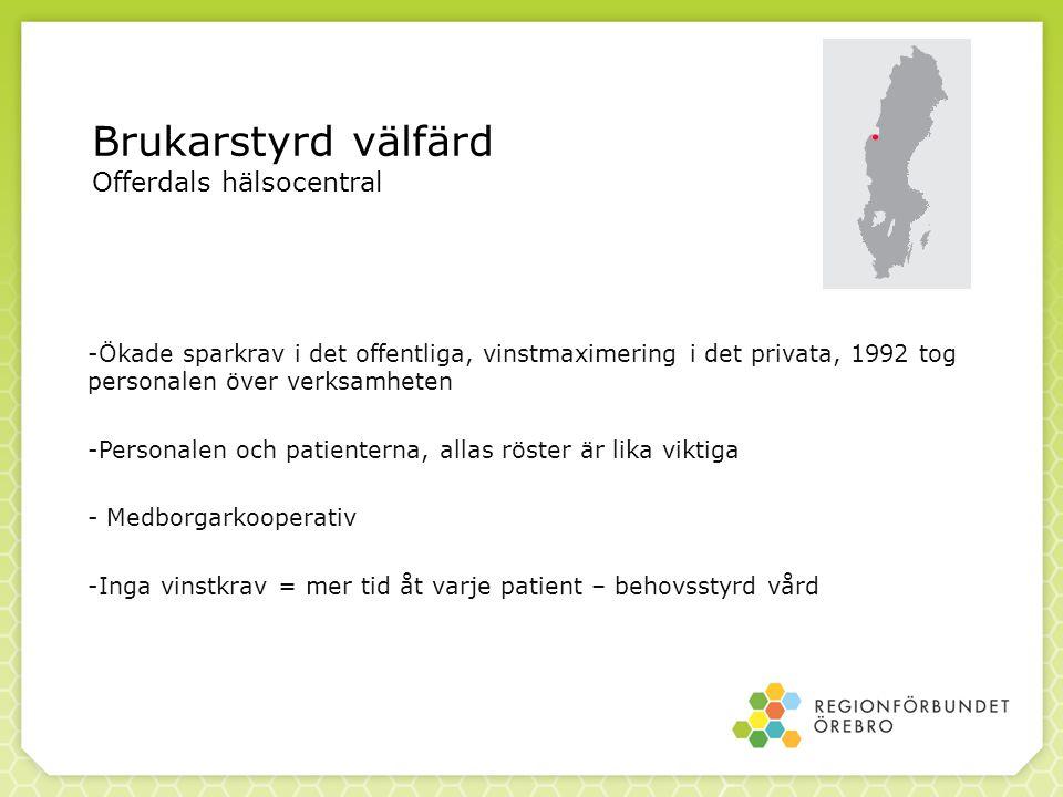 Brukarstyrd välfärd Offerdals hälsocentral