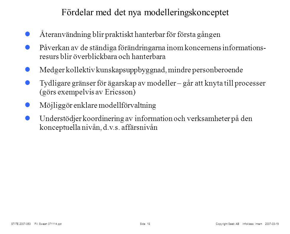 Fördelar med det nya modelleringskonceptet