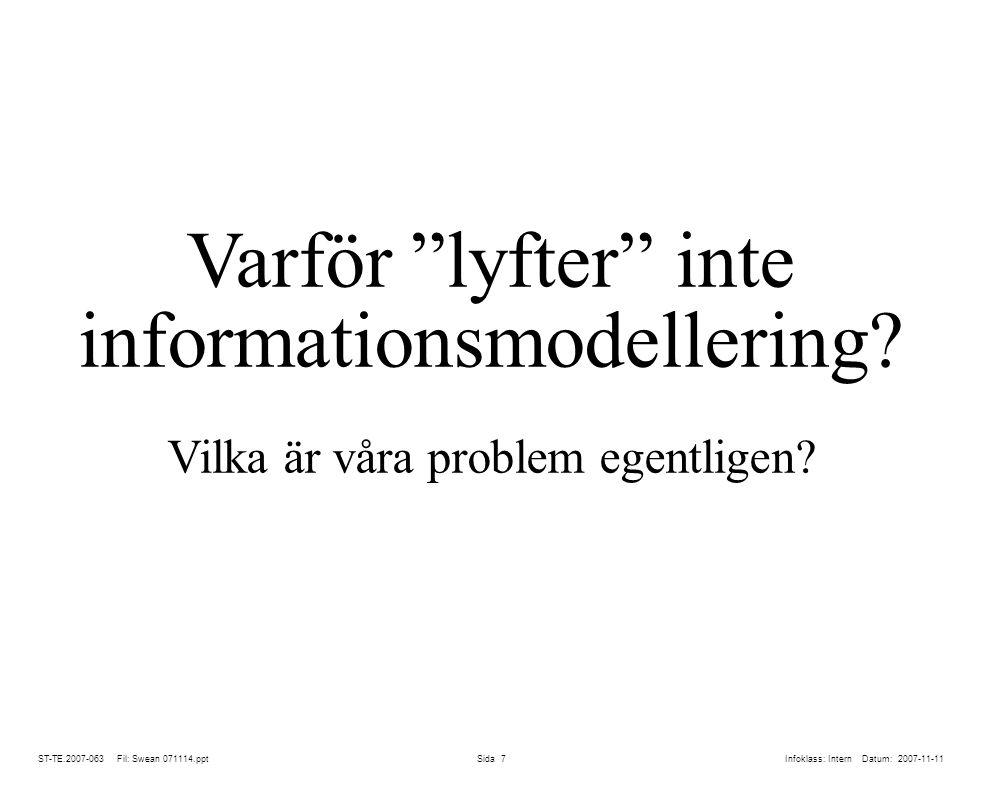Varför lyfter inte informationsmodellering
