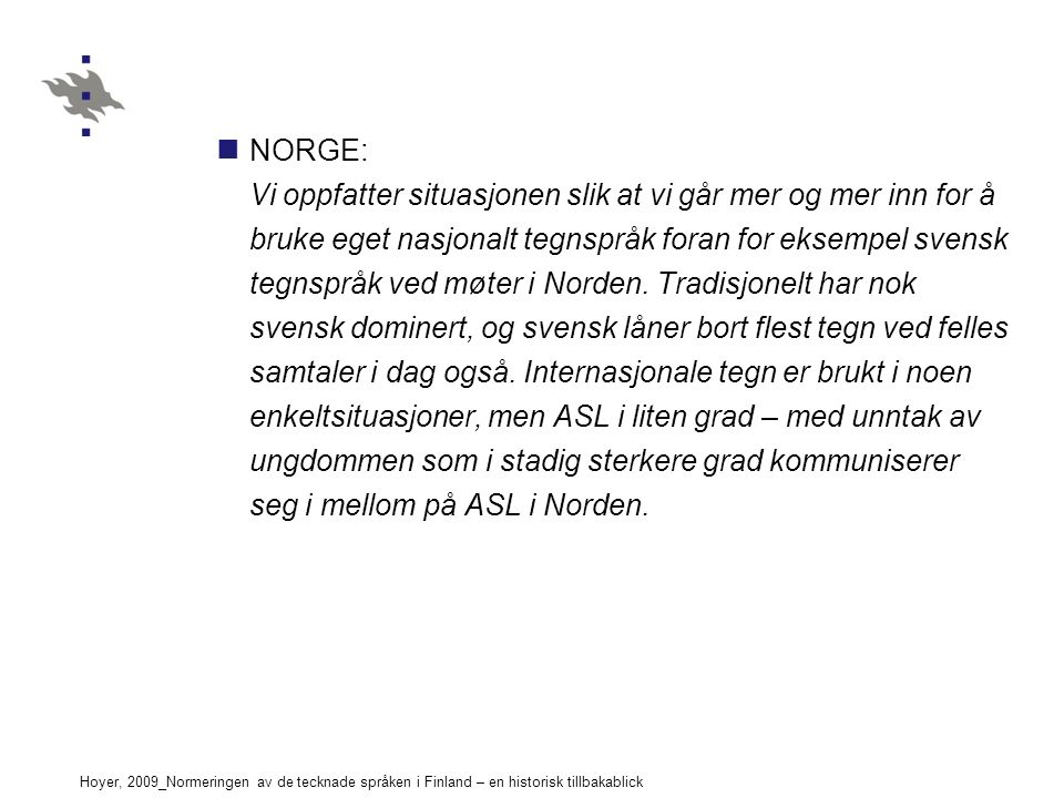 NORGE: