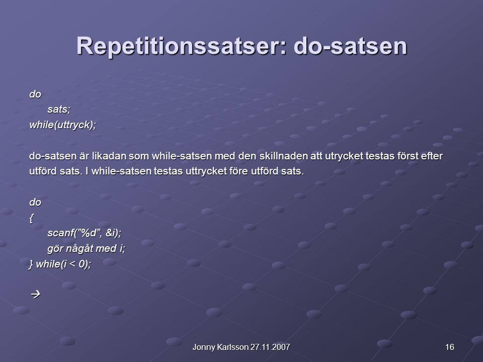 Repetitionssatser: do-satsen