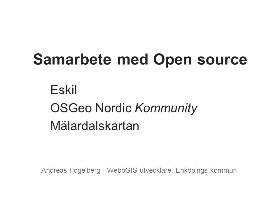 Samarbete med Open source