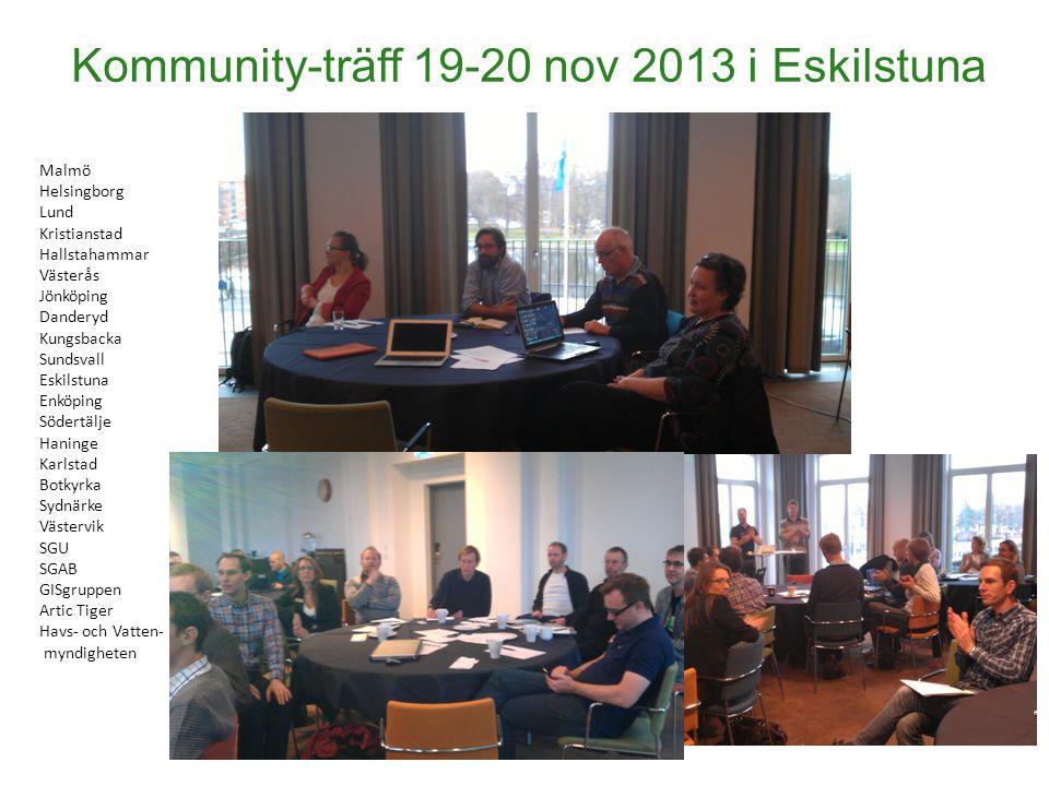 Kommunity-träff 19-20 nov 2013 i Eskilstuna