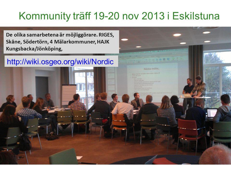 Kommunity träff 19-20 nov 2013 i Eskilstuna