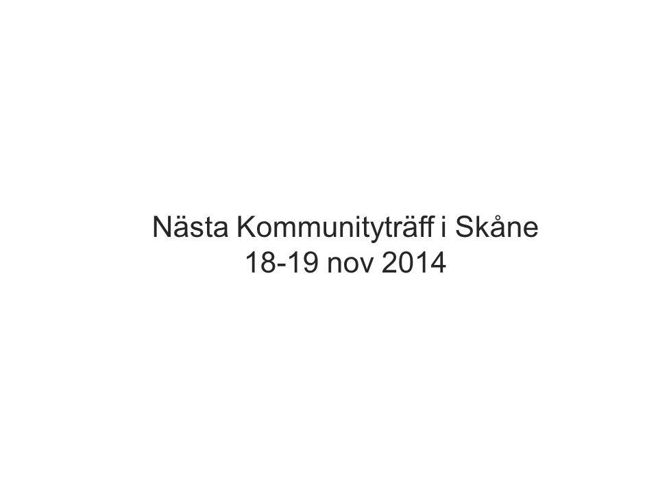 Nästa Kommunityträff i Skåne