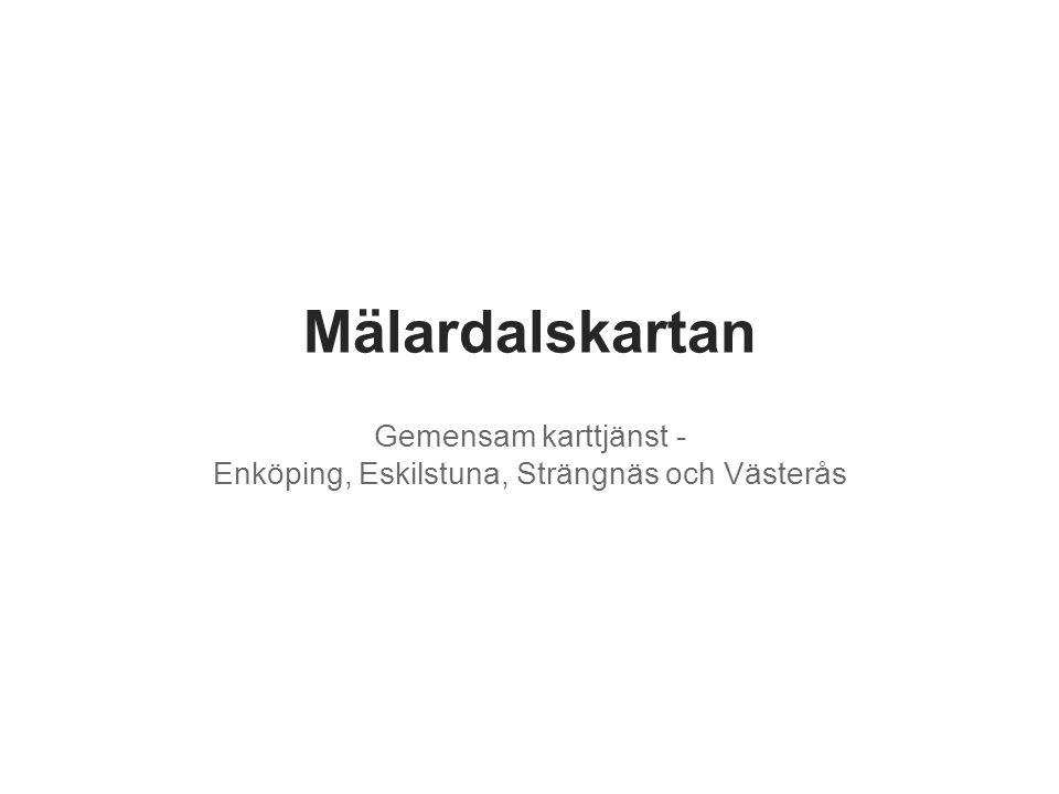 Gemensam karttjänst - Enköping, Eskilstuna, Strängnäs och Västerås