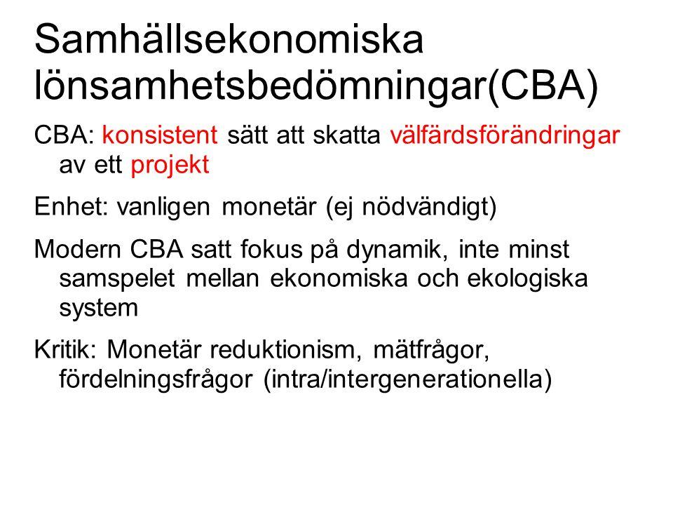 Samhällsekonomiska lönsamhetsbedömningar(CBA)