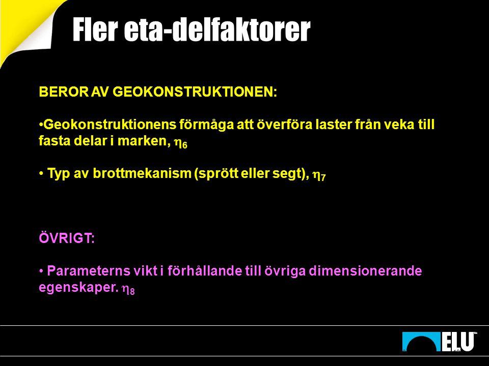 Fler eta-delfaktorer BEROR AV GEOKONSTRUKTIONEN: