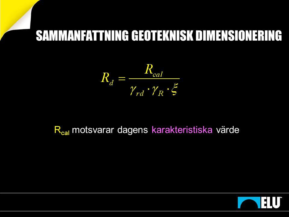 SAMMANFATTNING GEOTEKNISK DIMENSIONERING