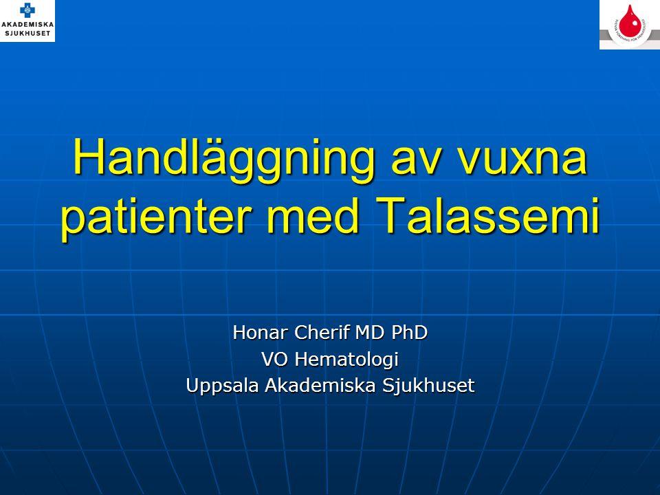 Handläggning av vuxna patienter med Talassemi