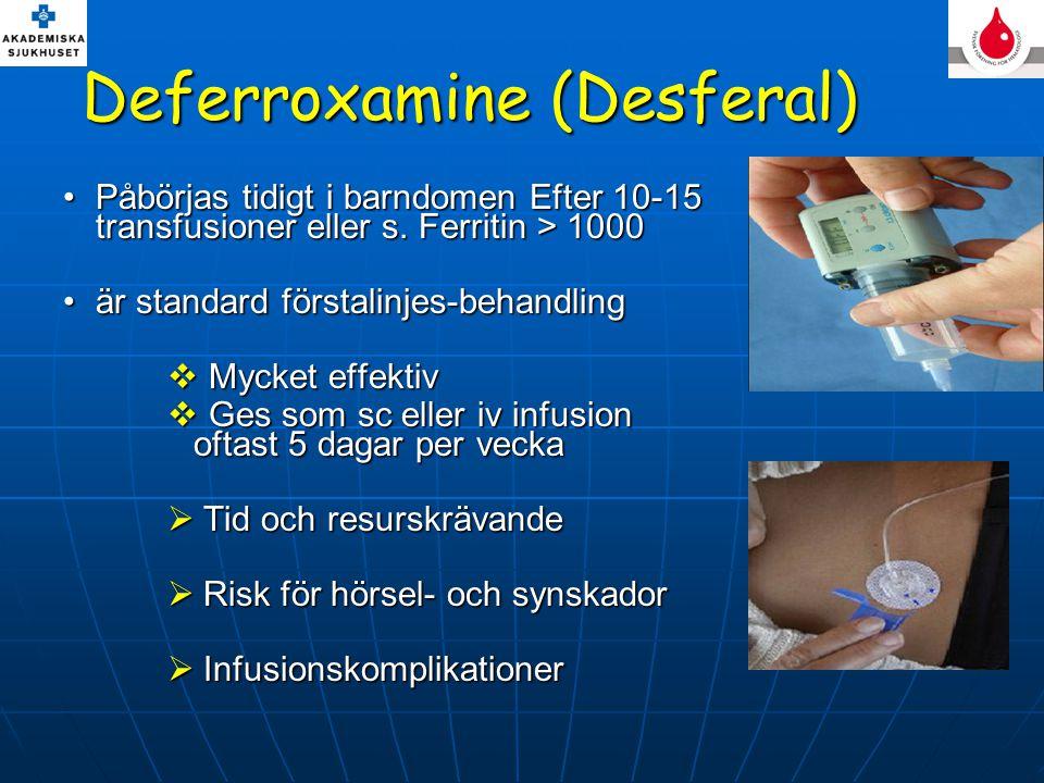 Deferroxamine (Desferal)