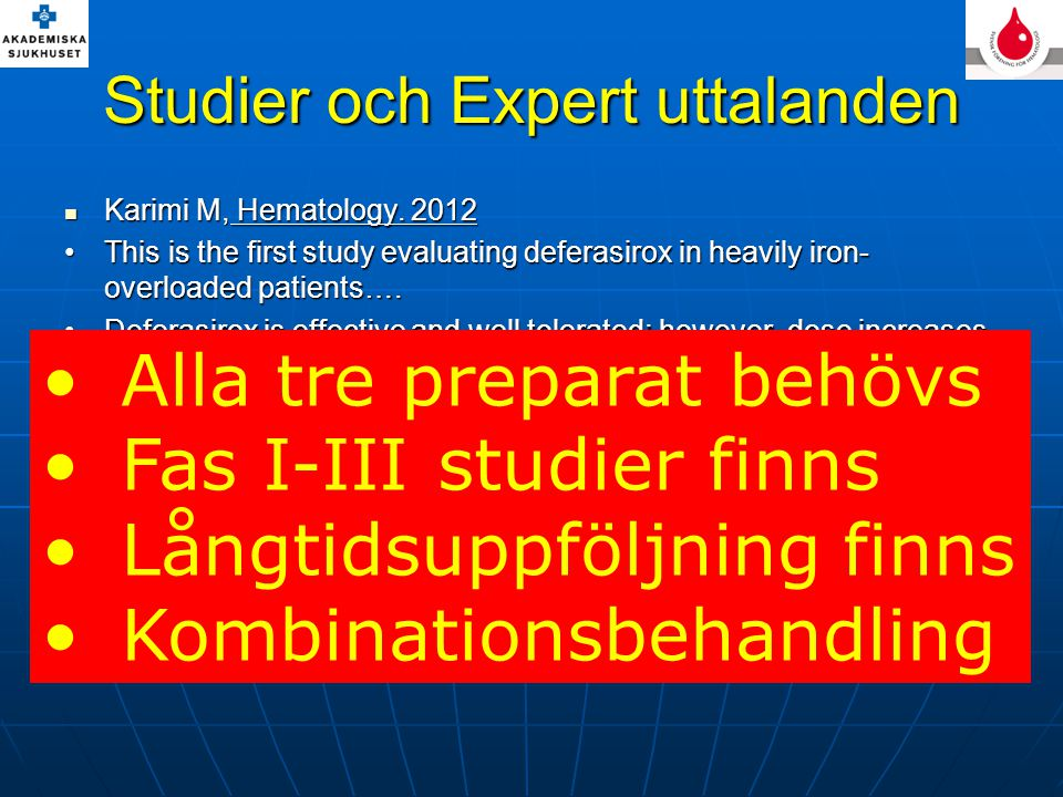 Studier och Expert uttalanden