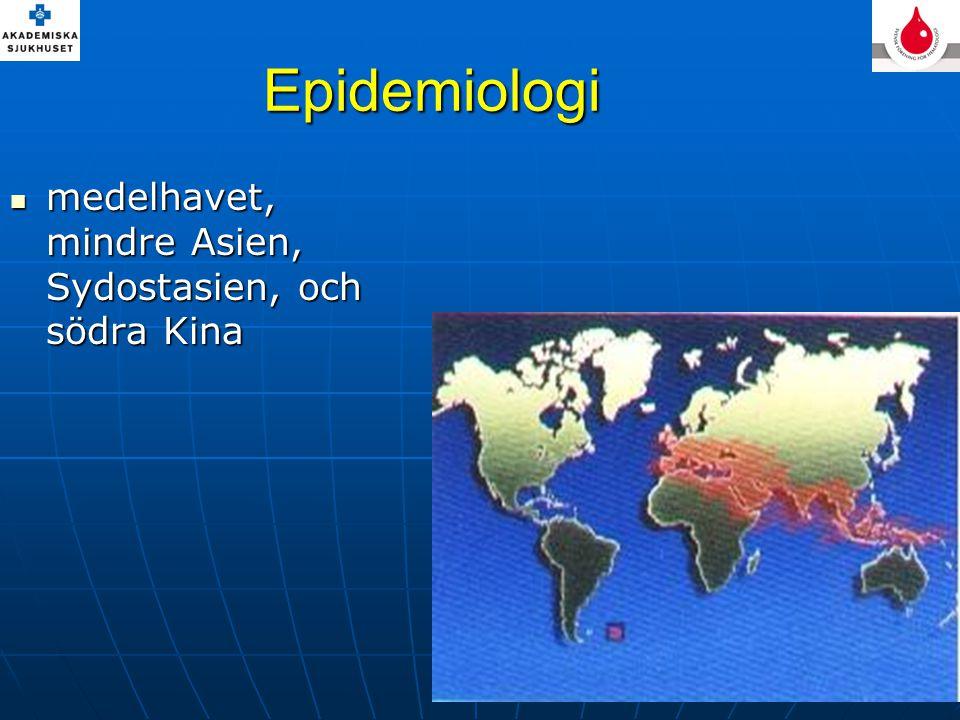 Epidemiologi medelhavet, mindre Asien, Sydostasien, och södra Kina