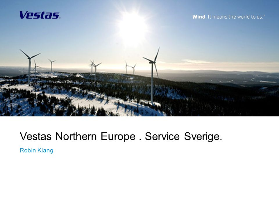 Vestas Northern Europe . Service Sverige.