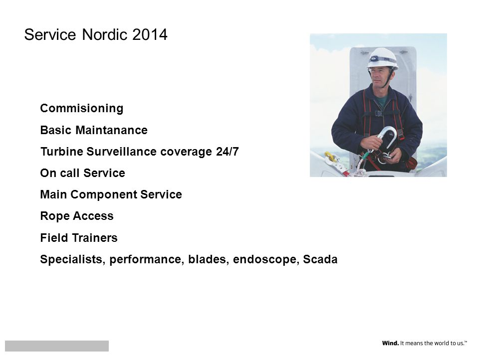 Service Nordic 2014 Commisioning Basic Maintanance
