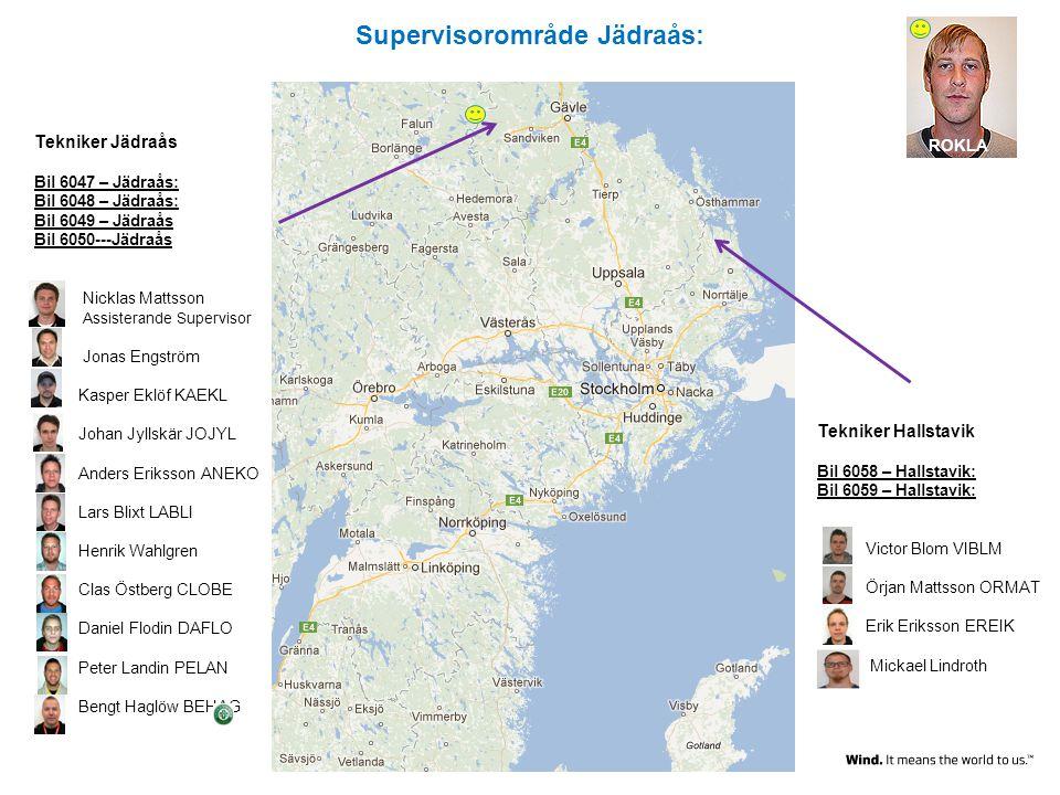 Supervisorområde Jädraås: