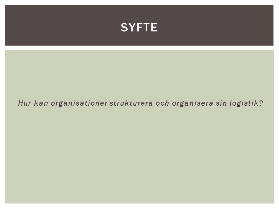 Hur kan organisationer strukturera och organisera sin logistik