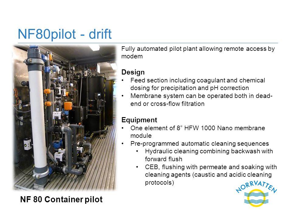 NF80pilot - drift NF 80 Container pilot Design Equipment