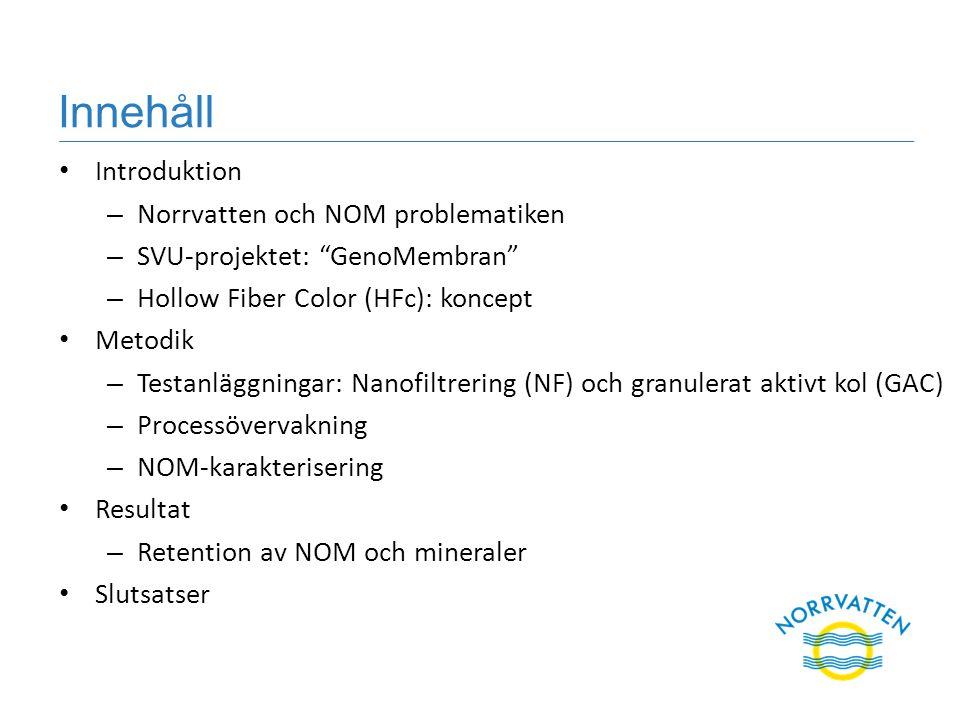 Innehåll Introduktion Norrvatten och NOM problematiken