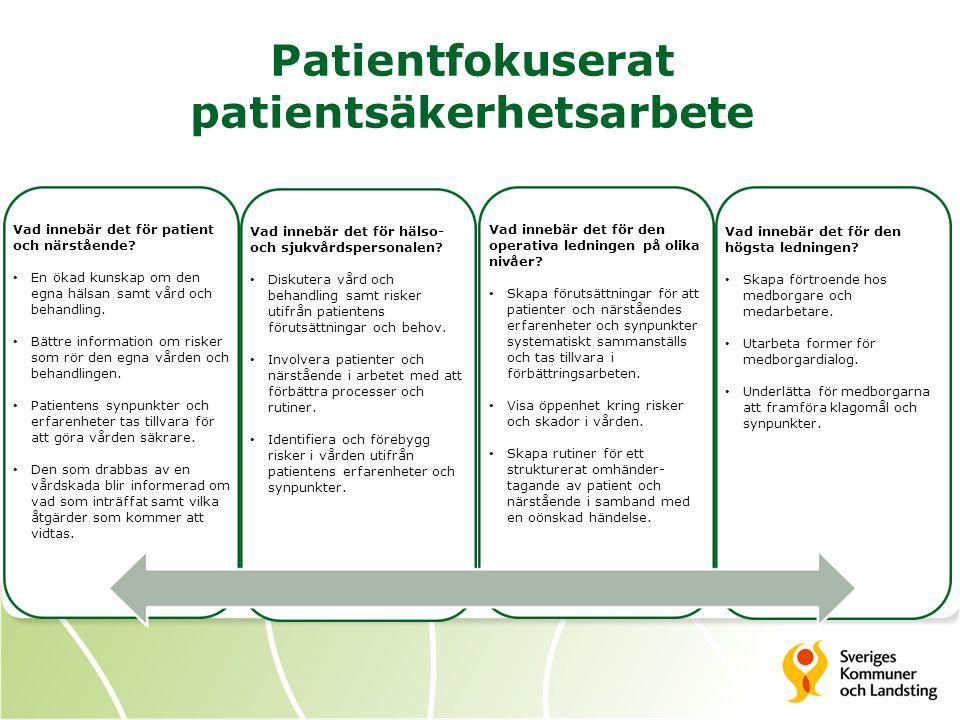 Patientfokuserat patientsäkerhetsarbete